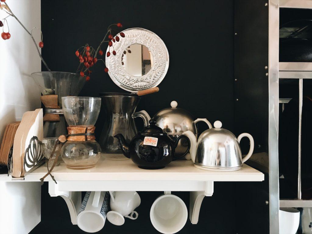 おとなっぽくなったキッチンの棚