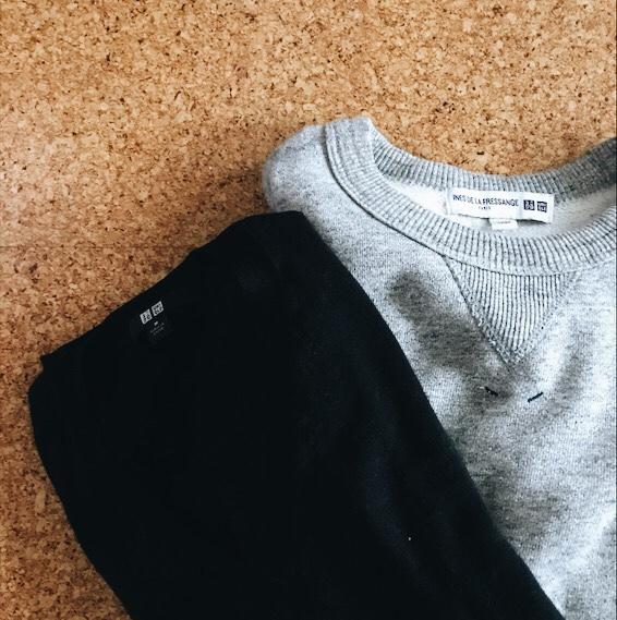 トレーナーとVネックセーター