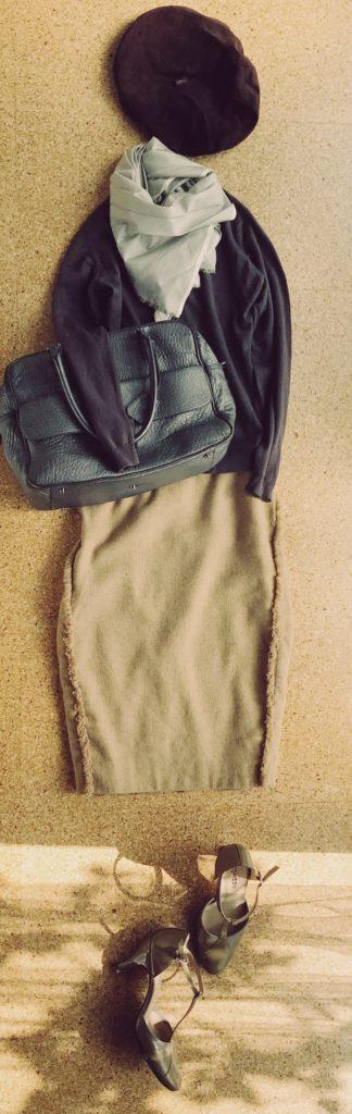 50代大人のベレー帽ファッションコーディネート