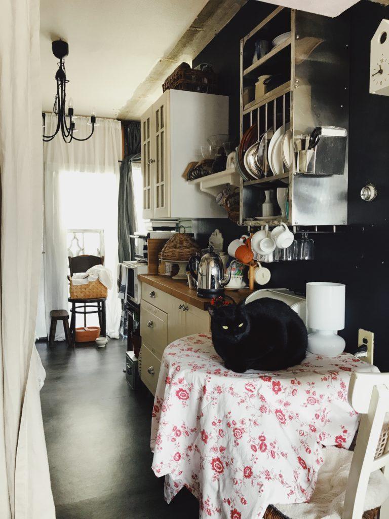 パリ風インテリアのキッチン