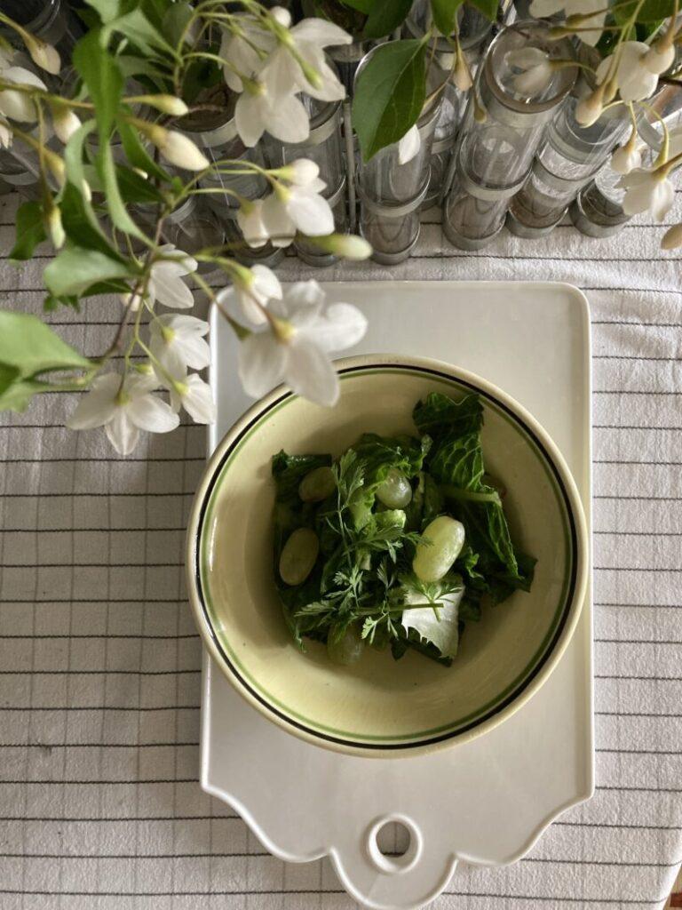 パクチー入りグリーンサラダ