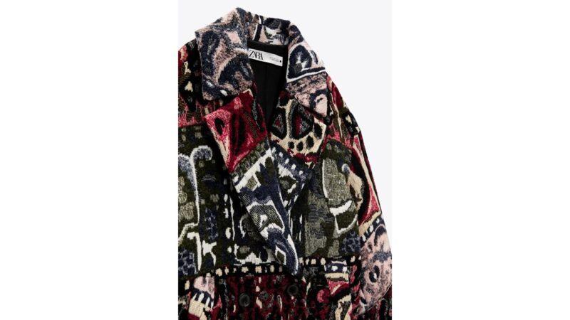 ZARAのジャガードコート